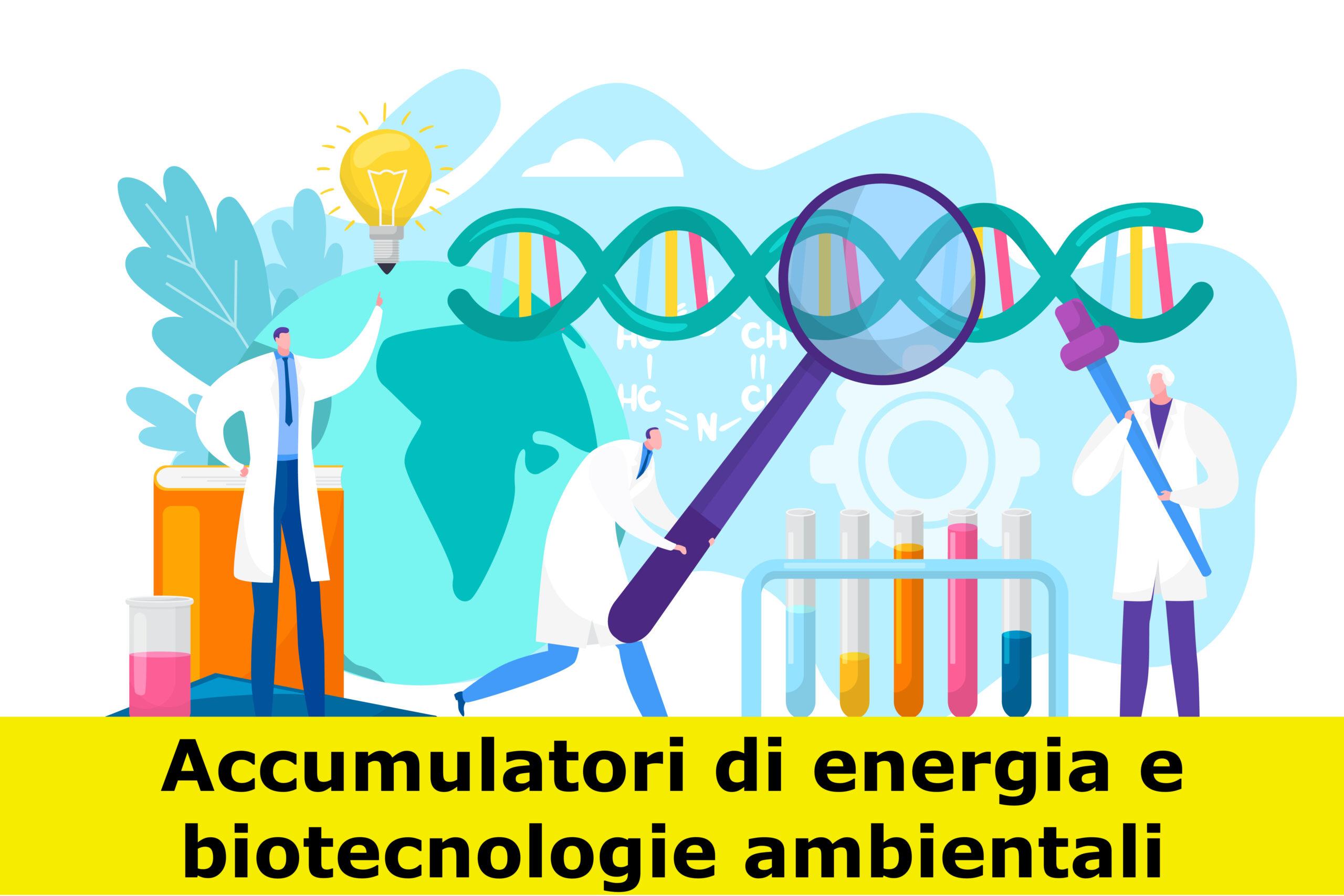 Illustrazione dell'attività dei biotecnologi ambientali