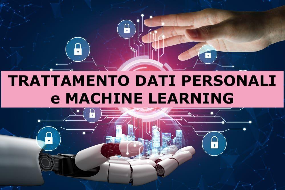 Rendering 3D dell'intelligenza artificiale e del concetto di protezione dati