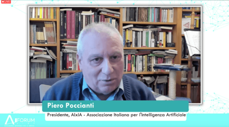 AI FORUM 20202 - Piero Poccianti, Presidente di AIxIA, l'Associazione Italiana per l'Intelligenza Artificiale