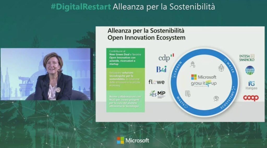 Silvia Candiani, AD di Microsoft, presenta l'Alleanza per la Sostenibilità