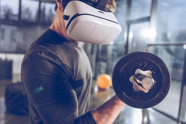 fitness a casa realtà virtuale