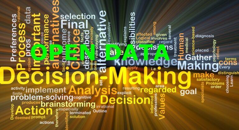 open data e decision making
