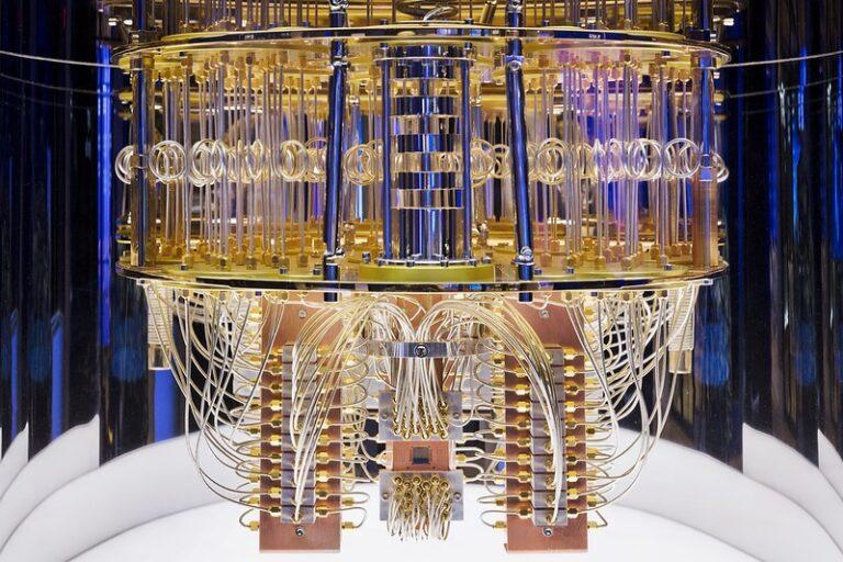 Interior of IBM Quantum computing system. (Credit: IBM)
