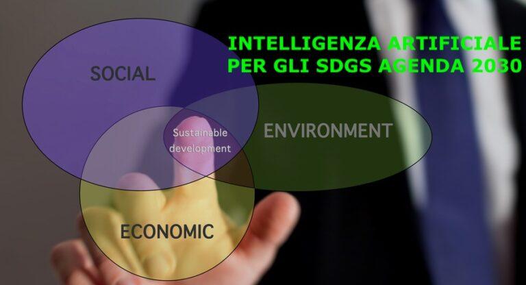 intelligenza artificiale per gli sdgs agenda 2030
